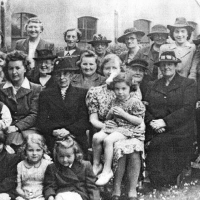 Women's Gathering and Children (circa 1945)