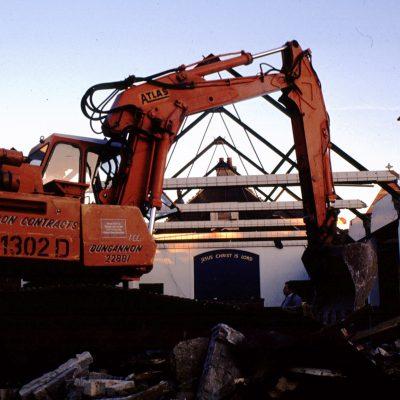 Demolishing the old Church Building