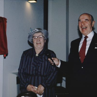 Mrs Lucy Strain and Mr Kenneth McCluskey Opening New Church 1990